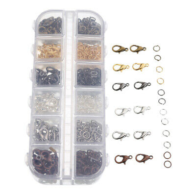 120pcs Clasps Hooks DIY Making Jewelry Necklace Findings Metal Jump split Rings