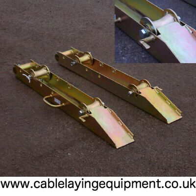 Roll On Cable Drum Rotator Pair