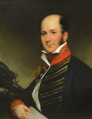 Fine Large 19th Century English Military Artillery Officer Thomas Lawrence
