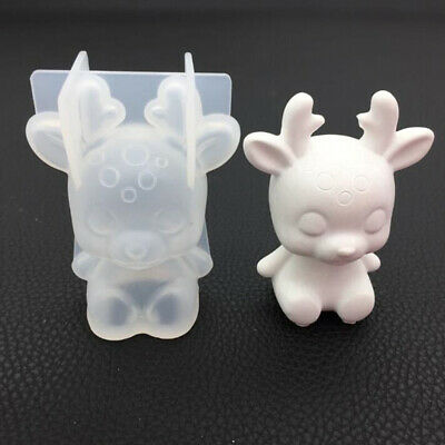 Soap Candle Mold Deer Shaped Silicone Mould Handmade Resin Candy Supplies BS