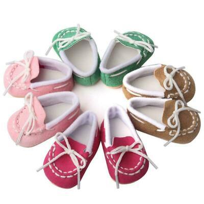 MAGIC GIFT Beautiful Doll Shoes Fits 18 Inch Doll and 43cm baby dolls shoes D5U7
