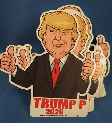 Wholesale Lot Of 20 Die Cut Thumbs  Up Trump Keep America Great 2020 Stickers Us