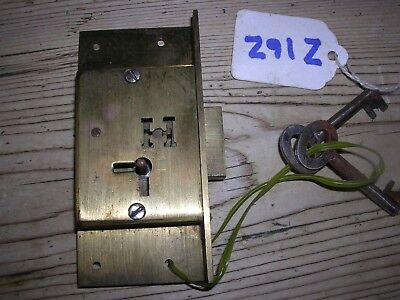 Brass Hobbs & Co. Cabinet Lock & 2 Keys  (Z16Z)