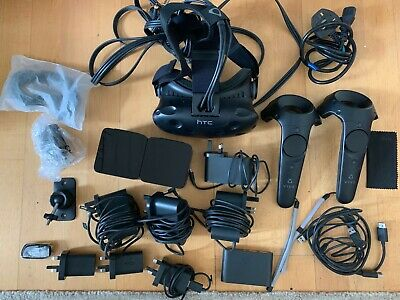 HTC Vive Virtual Reality + Full Accessories - Barely used, Perfect Condition