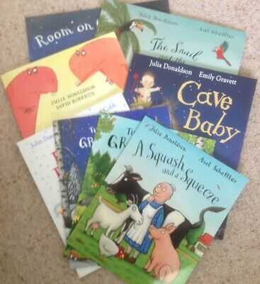 *USED VG* Julia Donaldson 8 Book Set inc Gruffalo, Room on the Broom,  #shlf