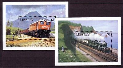 (88) LIBERIA RAILWAY MINISHEETS SELECTION  99p START ONLY!!