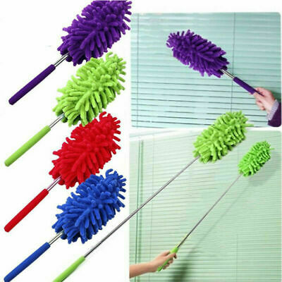 Extendable Telescopic Microfiber Cleaning Duster Feather Style Home Extend Brush