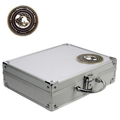 Aluminium Coin Display Case with 6 Trays for over 200 Coins