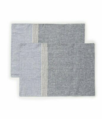 Southern Living stripe Placemat, Set of 6 and table runner new nwt navy stripe