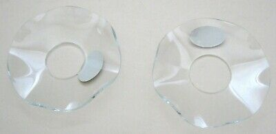 Vintage Pair of Bobeches Candle Drip Catchers Lenox Glass Wavy Style