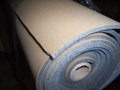 "Auto Headliner Upholstery Fabric With Foam Backing  62"" x 60"" Saddle Tan Crafts"