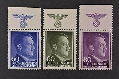 1943 MNH** German Occupation Stamps- Poland. General Government. Adolph Hitler