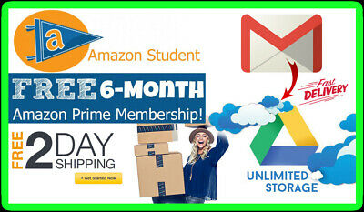 EW USA Edu Email 6Months Amazon Prime / Unlimited Google Drive Student + More✔✔