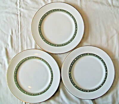 """ROYAL DOULTON H5004 RONDELAY Pattern 3 x 10½"""" DINNER PLATES Very Good Used 2nds"""