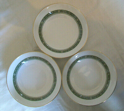 ROYAL DOULTON H5004 RONDELAY Pattern 3 x SOUP / CEREAL BOWLS Very Good Used