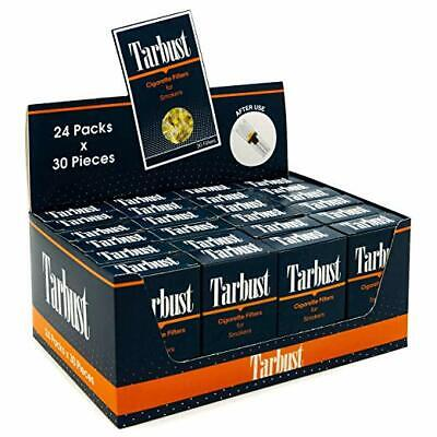 Tarbust Disposable Cigarette Filters - 24 Packs Display Box (24x30 Filters)