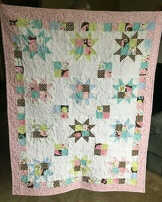 Baby Girl Quilt-Hand Made- So Soft Flannel-Free Added Name