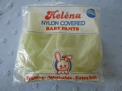Vintage EX-Large Helena Plastic Baby Pants Yellow Transparent Plastic