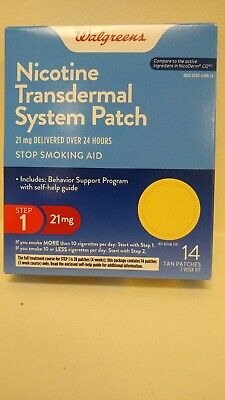 Wallgreens  Step 1 Transdermal Patch,21 mg, 14 count expires: 01/2020 Ships Free