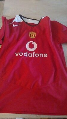 5dc9bf757 MANCHESTER UNITED 2004 2005 HOME FOOTBALL SOCCER JERSEY XL extra large NIKE