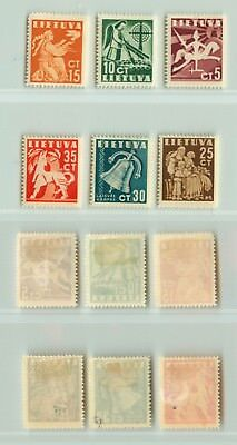 Lithuania 1940  SC 317-322  mint . e1621