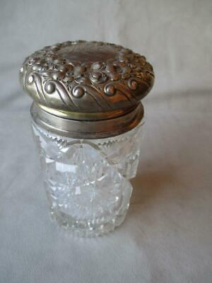 Stunning Shreve & Co Sterling And Crystal Dresser Jar