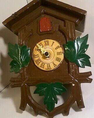 vintage cuckoo clock marked Germany AS IS NO KEY UNTESTED PARTS OR REPAIR