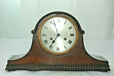 Antique German Mantle Clock With Key For Partial Restoration.