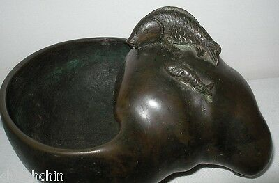Bizarre MUSEUM QUALITY Antique BRONZE Sculptural BOWL Censer CHINESE or JAPANESE