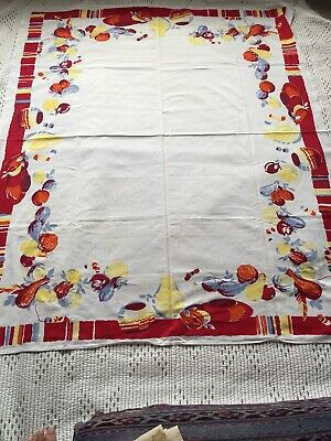 Large Mexican Design Vintage Tablecloth