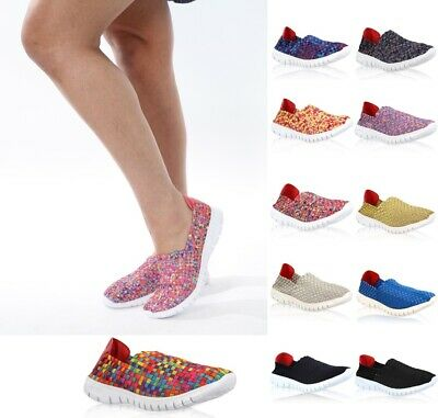 WP Womens Slip On Summer Beach Trainers Pump Ladies Mesh Breathable Loafer Shoes
