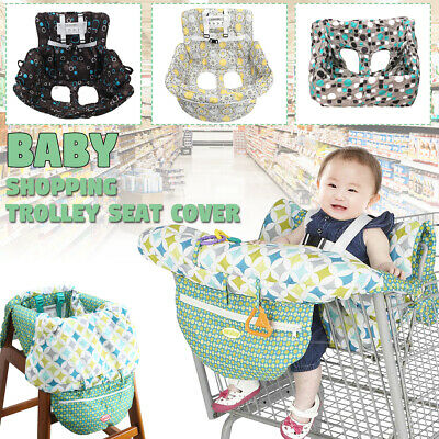 Baby Shopping Trolley Cart Seat Pad Kid Child High Chair Protective Cover Mat