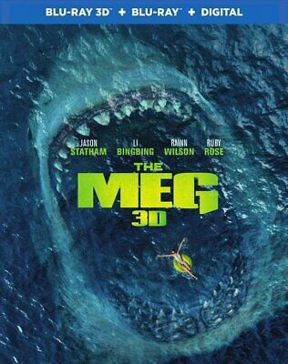 The Meg (Blu-ray 3D & 2D Combo w/ Digital Copy) - Brand New & Sealed
