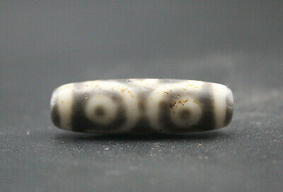 43*13MM Oriental Vintage Unusual Agate Tibetan Old 6 eyes dzi Bead Free shipping