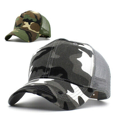 Outdoor Camping Camouflage Baseball Cap Military Army Hat Trucker For Men Women