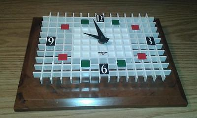 "Vintage 1960's Mid Century Spartus ""Honeycomb"" Wall Clock NEW IN BOX Made In USA"