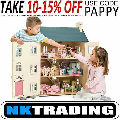 Le Toy Van Cherry Tree Hall Dolls House And Furniture XTRA 3% OFF use code PLACE