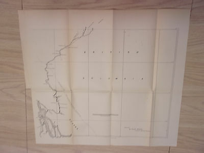Late 1800s Sketch Map of Boundry Line Unsurveyed Alaskan Coast, British Colombia