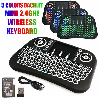 Wireless Mini Keyboard Rii i8 Air Mouse Keypad Remote Control Android TV Box New
