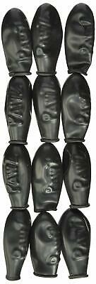 """Paws Pet Thin Rubber Waterproof Boots Blk Tiny 1"""" Reusable Disposable Set Of 12"""