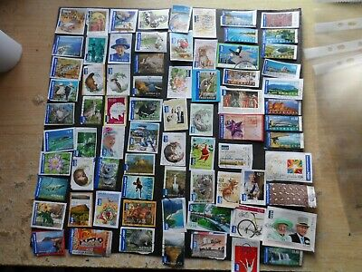 page international post australian stamps used on & off paper