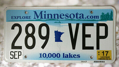 PLAQUE IMMATRICULATION Minnesota  100 % authentique vintage plate