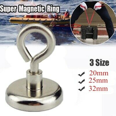 Strong Magnetic Ring Hook Powerful Heavy Duty Round Neodymium Magnet Sea Salvage