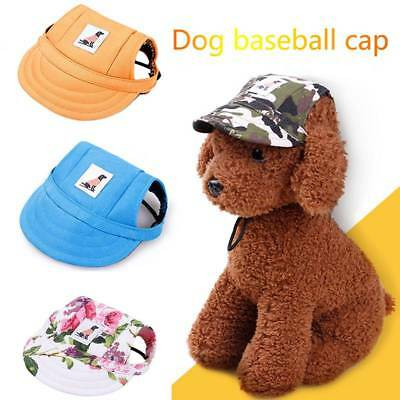 Pet Dog Baseball Cap With Ear Holes Puppy Canvas Hat Sports Summer for Small Dog