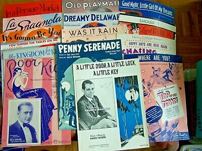 15- PIECES OF VINTAGE SHEET MUSIC-1920's to 1940's ERA-MIXED LOT--Lot #4