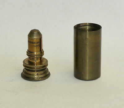 "1/8"" Correction Collar objective lens in can for brass microscope - Swift & Son."