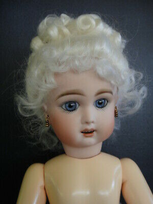 """BLEUETTE Repro bisque doll. JUMEAU Mold """"Premier"""" - Blue eyes - Made in FRANCE"""