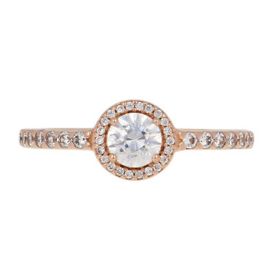 a853f01df NEW Authentic Pandora Rose Classic Elegance Ring Sterling Halo 56 (7.5)  180946CZ