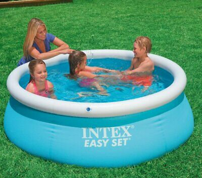 Large Inflatable Round Water Swimming Paddling Pool Summer Fun Garden Family Set