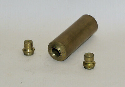 Old brass microscope drawtube and 2 lenses.